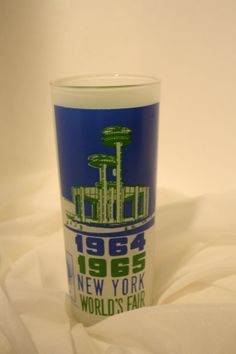 1964 1965 World Fair souvenir Glass by pleemiller on Etsy