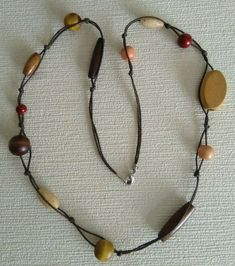 Costume Jewelry, Cord, Beaded Necklace, Costumes, Jewellery, Beads, Brown, Beaded Collar, Beading