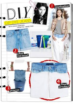 So sick of bar prep I think I'm going to do this to every pair of denim I have: Do It Yourself: Dip Dye Jeans - Celebrity Style and Fashion from WhoWhatWear