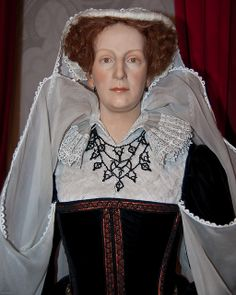Mary I of Scotland, Wax figure at Madame Tussaud's London WE KNOW FROM HER DEATH MASK THAT HER FEATURES WERE VERY PRETTY, PRETTIER THAN THIS!! SHE WAS, THOUGH, A VERY STUPID WOMAN, NOT FIT FOR GOVERNING IN THOSE TIMES.