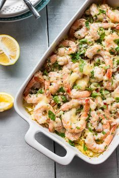 Skinny Baked Shrimp Scampi | 24 Low-Carb Spaghetti Squash Recipes That Are Actually Delicious