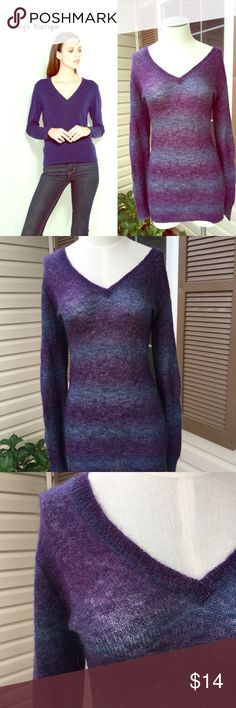 ⭐️Joe Fresh Blue and Purple Knitted Sweater ⭐️ ⭐️Joe Fresh Blue and Purple Knitted Sweater ⭐️   >Size Small >Blue and Purple long sleeve sweater.  >Excellent Condition.  >Next day shipping & All sales are final Joe Fresh Sweaters V-Necks