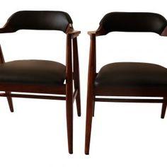 Set of Six Original vintage D Scan Teak Dining Chairs Description