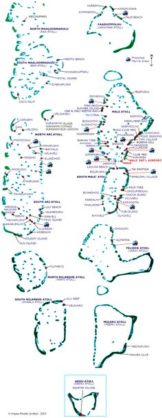 Clickable Resort Map of Maldives. You can click on the resort name to view the page for the resort.