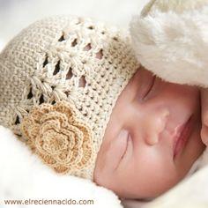 Gorros de ganchillo hechos a mano para bebés