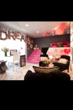 Room ideas love this!! but in teal lol