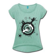 I'm Alive - Woman - T-shirt Femme à manches retroussées