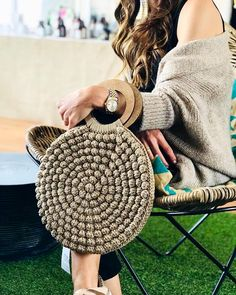 Image may contain: one or more people Crochet Tote, Crochet Handbags, Crochet Purses, Hand Crochet, Knit Crochet, Handmade Handbags, Handmade Bags, Crochet Shoulder Bags, Crochet Circles