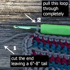 Invisible Join Technique Crochet Tutorial - (oombawkadesigncrochet)