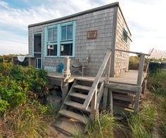 This weeks Tiny House in a Landscape is a photograph by Christopher Seufert of a small beach shack located in Provincetown, Massachusetts. Tiny Beach House, Tiny House Blog, Tiny House Swoon, Beach Cottage Style, Coastal Cottage, Coastal Decor, Beach Houses, Coastal Style, Lakeside Cottage