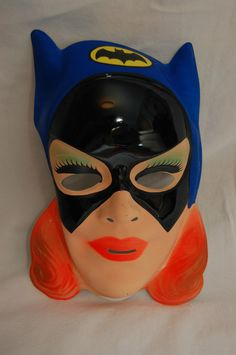 Vintage 1970's Batgirl Ben Cooper Halloween Plastic Mask DC Comics | eBay