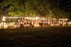 I love how this looks from a distance, and you could dance outside under the stars all night! Wedding Bells, Wedding Events, Dream Wedding, Wedding Day, Outdoor Venues, Girls Dream, Event Decor, The Great Outdoors, Getting Married