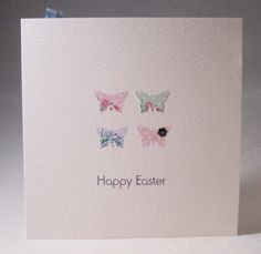 Easter Cards,'Easter Butterflies',Handmade Easter Cards,3pk £3.25