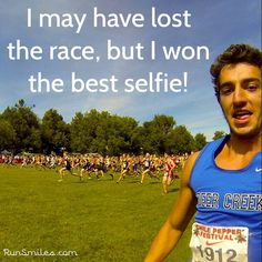 Thanks @devt_inaction for sharing your race day selfie WHILE RACING! Haha, we loved it, just don't let your coach see it. #racedayselfie