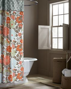 Coral Shower Curtains On Pinterest Shower Curtains Curtains And Mermaid Sh