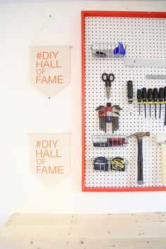 Pegboards are such a great way to keep all of your tools organized. This giant…