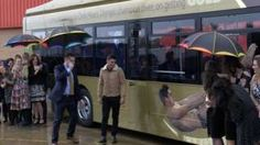 Golden bus created for Olympic diver Chris Mears