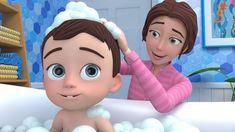 The Best Educational Video For Children by Lalafun With Nursery Rhymes And Popular Baby Bath Song Baby Songs, Kids Songs, New Nursery Rhymes, Funny Videos For Kids, Funny Paintings, Abc For Kids, Cartoon Kids, 3d Cartoon, Learning Colors