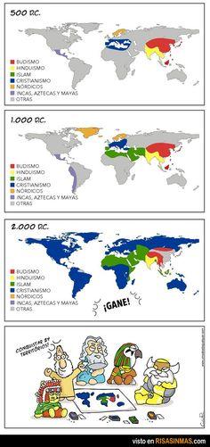 Mapa de las religiones.