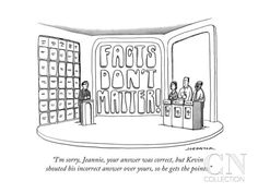 """""""I'm sorry, Jeannie, your answer was correct, but Kevin shouted his incorr..."""" - New Yorker Cartoon Poster Print by Joe Dator at the Condé Nast Collection"""