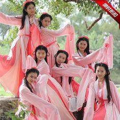 Pas cher Antique chinois robes de danse costumeclassical costume Hanfu, Acheter Danse chinoise folklorique de qualité directement des fournisseurs de Chine:2016 Direct Selling Real Disfraces Hmong Clothes Ancient Chinese Costume Chinese Qing Dynasty Costume Princess Clothes F