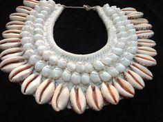 Tribal Shell Necklace Luxe Sheer Beauty Boho Chic Women Fashion Show Home Decor #SavageHarvest