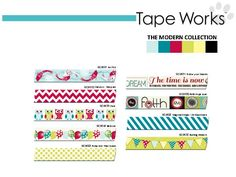 Tape Works (washi tape) Modern Collection.  Look for this at major retailers Summer 2013!