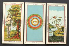 Antique Vintage Tarot Egyptiens Fortune Telling Cards by Delarue France 1890s | eBay