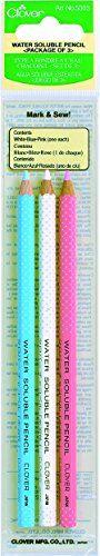 Clover Water Soluble Pencil Assortment, 3EA Clover http://www.amazon.com/dp/B000B836P2/ref=cm_sw_r_pi_dp_5QI-vb06ZS2A2