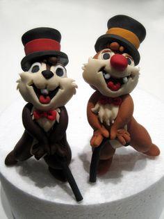 Chip And Dale Figurines by Sliceofcake.deviantart.com