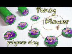 DIY flower cane {Polymer Clay Tutorial} Pansy - Viola del pensiero - Violeta - YouTube