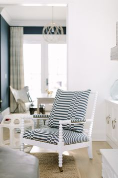 Spindle Chair from Lillian August for Hickory White. Kate Marker Interiors