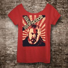 Game of Thrones Shirt HODOR Shirt Off The Shoulder Slouchy Tshirt. Hold the Door Winter is Coming  $28.00