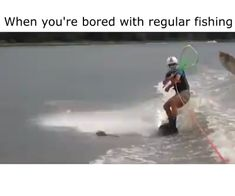 When You Are Bored with Regular Fishing - Sprüche - Best Humor Funny 9gag Funny, Funny Video Memes, Stupid Funny Memes, Funny Relatable Memes, Haha Funny, Funny Cute, Funny Stuff, Funny Animal Memes, Funny Animals