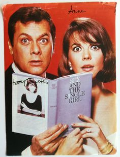 3 of My Favs.....Natalie Wood & Tony Curtis reading the fabulous Helen Gurley Brown  <3