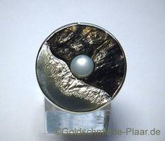Kokosnuss-Ring mit Zuchtperle
