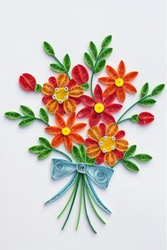 What a nice, multipurpose card!  This densely quilled card is a keepsake!   Card is blank inside so you can write your own special message Includes mailing enve