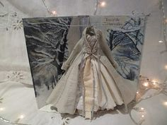 Assemblage Art Dress Made From Paper and Fabric by MesssieJessie