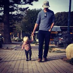 Eric Christian Olsen and Wyatt = so sweet father and son!