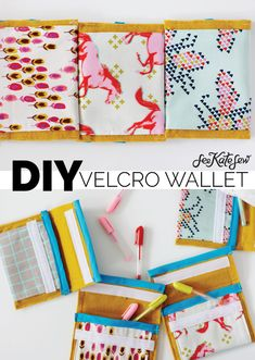 velcro wallet tutorial I made velcro wallet cases that can be used for lots of different things. I made these as little gel pen cases.