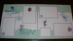 DISNEY-FROZEN-ELSA-ANNA-OLAF-Premade-Layout-Scrapbook-Pages