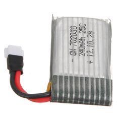 $1.80 (Buy here: https://alitems.com/g/1e8d114494ebda23ff8b16525dc3e8/?i=5&ulp=https%3A%2F%2Fwww.aliexpress.com%2Fitem%2F3-7V-240mAh-25C-Lipo-Battery-For-Hubsan-X4-H107L-H107C-U816A-V252-Upgraded-Syma-X5C%2F32692479736.html ) 3.7V 240mAh 25C Lipo Battery For Eachine E20 Hubsan X4 H107L H107C H107D U816A V252 Syma X5C H5C X5 X5SC JJRC H6C H6D Quadcopter for just $1.80