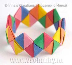 enrHedando: Como hacer un Brazalete o Pulsera de Origami. Tutorial