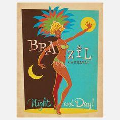 Brazil Carnaval Modern Print