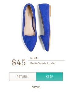 DIBA Kellie Suede Loafer from Stitch Fix.   https://www.stitchfix.com/referral/4292370