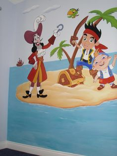 Jake & the Never Land Pirates mural www.custommurals.co.uk