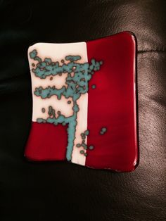 The reaction of French vanilla and turquoise fused glass is beautiful.