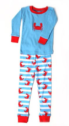 Finlay.  ???Crabs N Stripes Kids Pajama