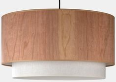 Woody Pendant Light  This may be a bit modern, but I like the wood veneer