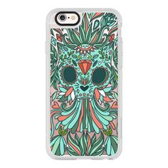 iPhone 6 Plus/6/5/5s/5c Case - Calavera Cat. Sugar kitty scull. Day of... ($40) ❤ liked on Polyvore featuring accessories, tech accessories, iphone case, iphone cover case, iphone hard cases, cat iphone case and apple iphone cases